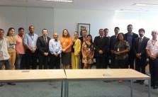 Natanael junto com líderes sindicais e de entidades na Audiência