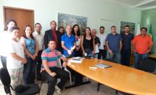 Representantes do Sintramfor em reunião com a prefeita, vereadores, servidores e outros