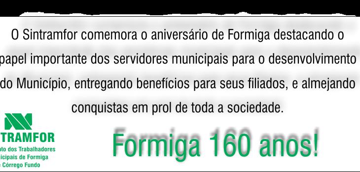 baneer Formiga 160 anos