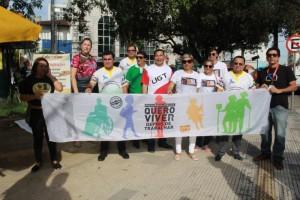 Manaus 8h30 paralisação de bancários na Praça da Polícia, Centro - Foto Eliana Nascimento G1 AM